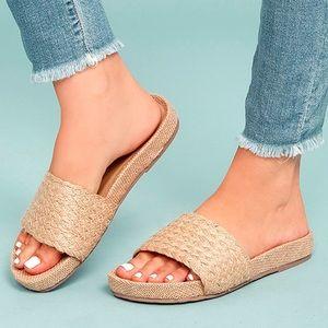 MIA Linara Woven Slide Sandal